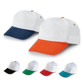 Бели бейзболни шапки с цветна козирка