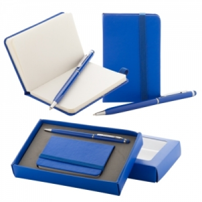 Комплект мини бележник и химикалка